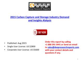 Carbon Capture and Storage Market Research Report 2015