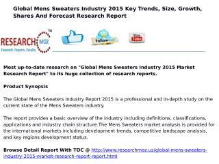 Global Mens Sweaters Industry 2015 Market Research Report