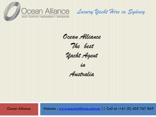 Ocean Alliance - Luxury Yacht Agent in Australia