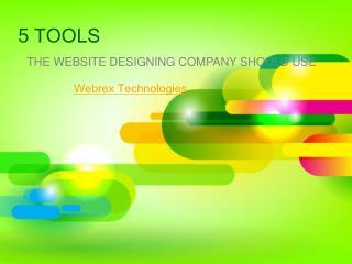 Tools website designing