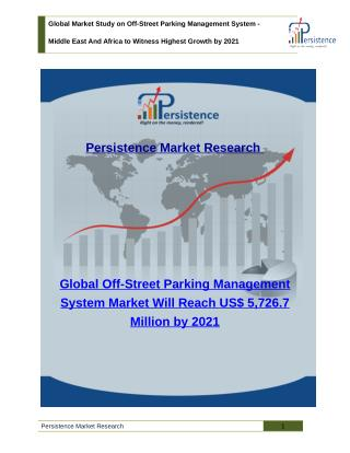 Global Market Study on Off-Street Parking Management System - Middle East And Africa to Witness Highest Growth by 2021
