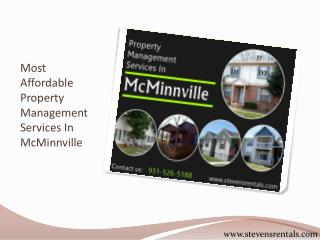 Most Affordable Property Management Services In McMinnville