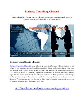 Business Consulting Chennai