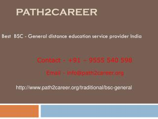 Distance Education Course In B.Sc - General In Delhi, Noida