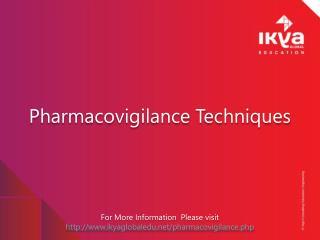Pharmacovigilance Techniques