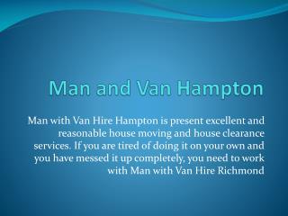 Man with Van Hire Hampton