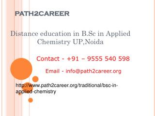 Best B.Sc in Applied Chemistry distance education service provider India @9278888356
