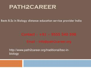 Distance education in B.Sc in Biology UP,Noida @9278888356