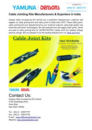 Cable Jointing Kits Manufacturers in India