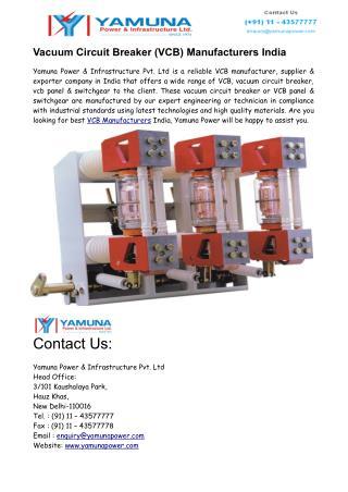 Vacuum Circuit Breaker (VCB) Manufacturers India