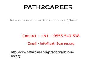 Best B.Sc in Botany distance education service provider India @9278888356