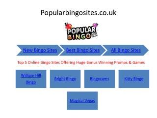 Top 5 Free Bingo Sites Offering Huge Bonus Winning Promos & Games