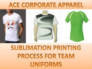 Ace Corporate Apparel - Sublimation T-Shirt Printing