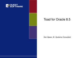 Toad for Oracle 8.5