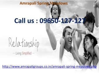 Amrapali Spring Meadows New Residential Project