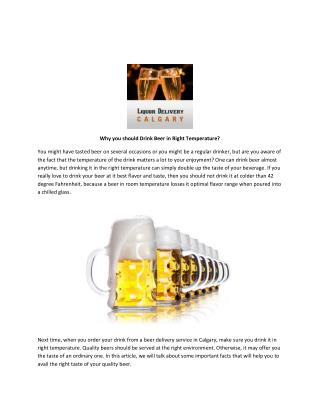Why you should Drink Beer in Right Temperature?