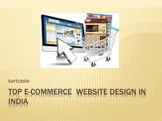 Top E-commerce website design company in India
