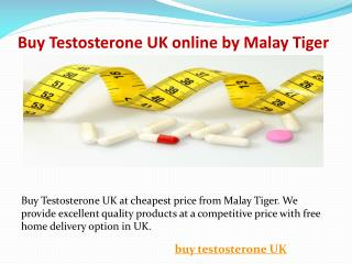 Buy Testosterone UK