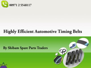 Extremely Efficient Gates Timing Belts