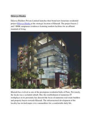 Eklavya Ekaika Kharadi Pune by Eklavya Builders Pvt Ltd