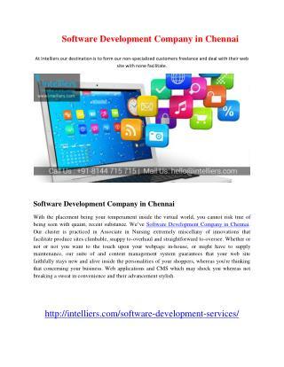 Software Development Company in Chennai