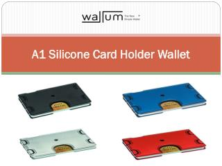 A1 Silicone Card Holder Wallet