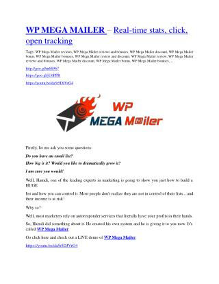 WP Mega Mailer review - (FREE) Jaw-drop bonuses