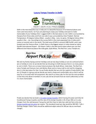 Luxury tempo traveller in delhi