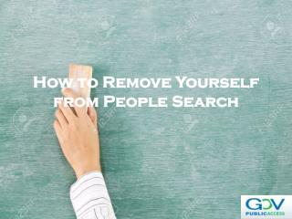 How to Remove Yourself from People Search
