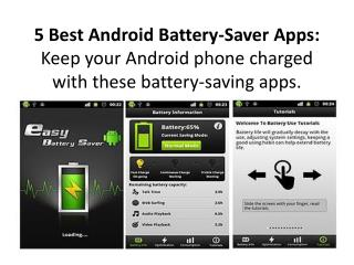 5 best android battery saver apps