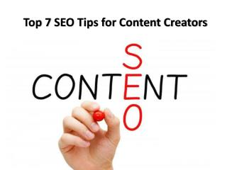 Top 7 seo tips for content creators