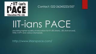 IIT-ians Pace JEE Training