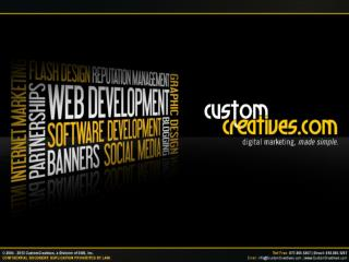 Digital Marketing Agency - Custom Creatives