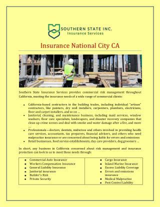 Insurance National City CA