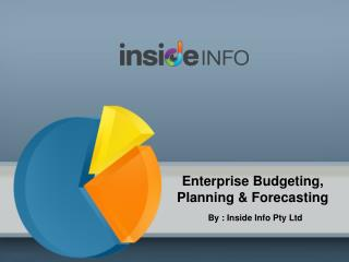 Enterprise Budgeting, Planning & Forecasting