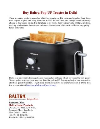 Buy Baltra Pop UP Toaster in Delhi