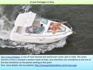 Cruise Packages in Goa