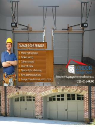 London Garage Door Installation, Maintenance and Repair Services