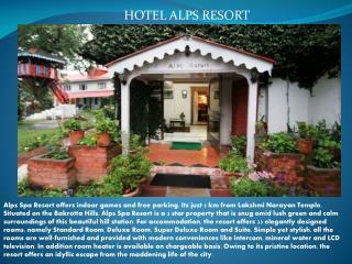 Hotel alps resort