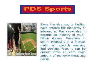 Sports handicapping service - Pdsssports