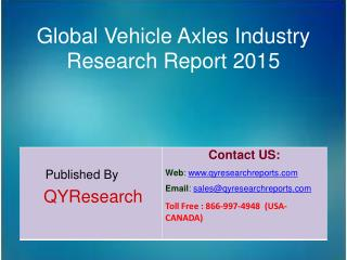 Global Vehicle Axles Market 2015 Industry Size, Shares, Research, Insights, Growth, Analysis, Trends, Overview and Forec