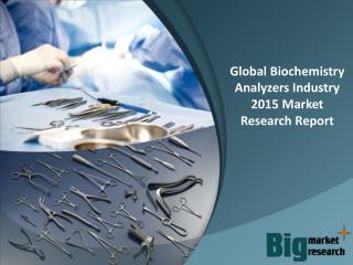 2015 Global Biochemistry Analyzers Industry - Market Size, Share, Growth & Forecast