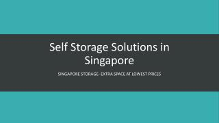 Self Storage in Singapore