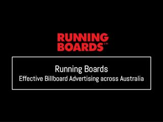 Running Boards: Effective Billboard Advertising across Australia