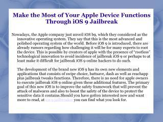 iOS 9 Jailbreaker