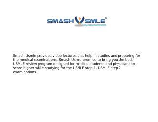 SmashUsmle: Usmle Video Lectures