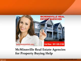 McMinnville Real Estate Agencies for Property Buying Help