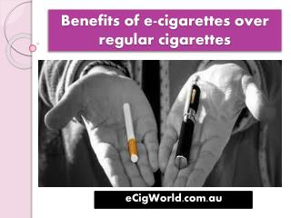 Benefits of e-cigarettes over regular�cigarettes