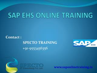 sap ehs training online by real time experts
