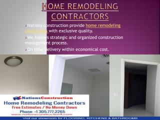 Get Home remodeling contractors